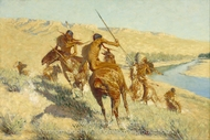 Episode of the Buffalo Gun painting reproduction, Frederic Remington