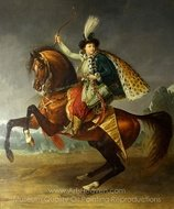Equestrian Portrait of Prince Boris Yusupov painting reproduction, Antoine Jean Gros