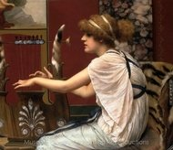Erato at Her Lyre painting reproduction, John William Godward