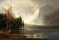 Estes Park, Colorado, Whyte's Lake painting reproduction, Albert Bierstadt
