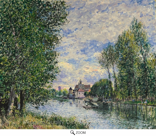 Alfred Sisley, Ete A Moret oil painting reproduction