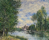 Ete A Moret painting reproduction, Alfred Sisley