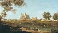 Eton College Chapel painting reproduction, Canaletto