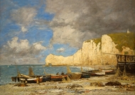 Etretat painting reproduction, Eugene-Louis Boudin
