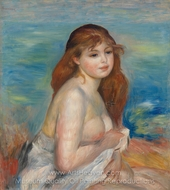 Etter Badet painting reproduction, Pierre-Auguste Renoir