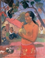 Eu haere ia oe (Woman Holding a Fruit) painting reproduction, Paul Gauguin