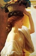 Eucharis, A Girl with a Basket of Fruit painting reproduction, Lord Frederic Leighton