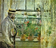 Eugene Manet on the Isle of Wight painting reproduction, Berthe Morisot