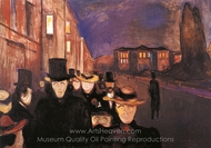 The Evening on Karl Johan painting reproduction, Edvard Munch