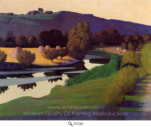 Felix Vallotton, Evening on the Loire oil painting reproduction