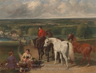 Exercising the Royal Horses painting reproduction, John Frederick Herring Sr.