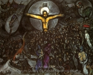 Exode (Exodus) painting reproduction, Marc Chagall (inspired by)