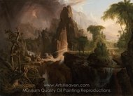 Expulsion from the Garden of Eden painting reproduction, Thomas Cole