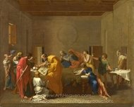Extreme Unction painting reproduction, Nicolas Poussin