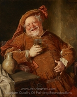 Falstaff with Jug and Glass painting reproduction, Eduard Von Grutzner