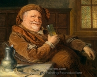 Falstaff with Tin Can and Wine Glass painting reproduction, Eduard Von Grutzner