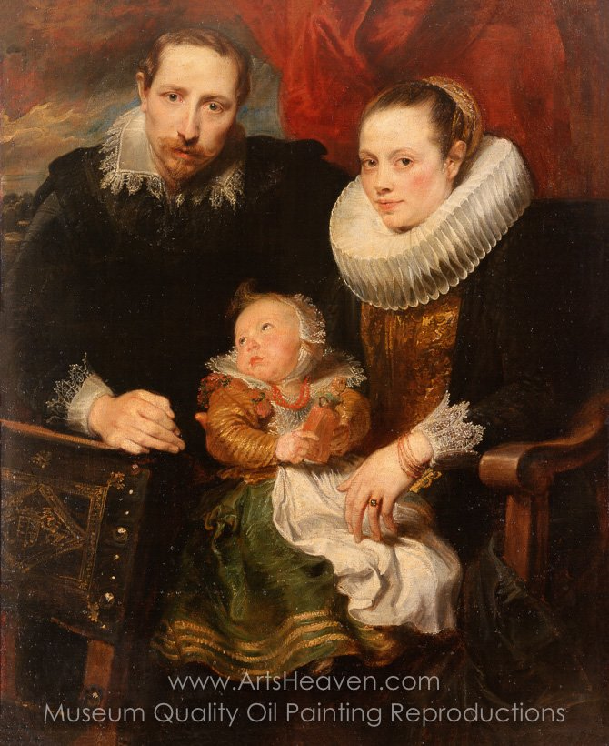 Reion Painting Sir Anthony Van Dyck Family Portrait Hand