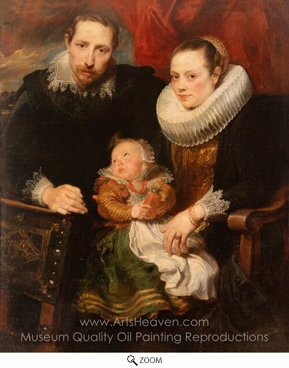 Sir Anthony Van Dyck, Family Portrait oil painting reproduction