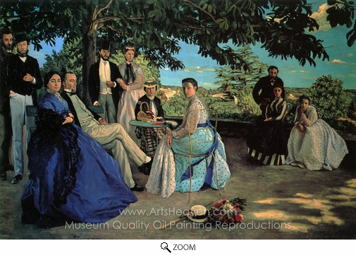 Jean Frederic Bazille, Family Reunion oil painting reproduction