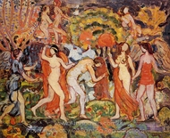 Fantasy painting reproduction, Maurice Prendergast