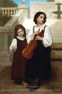 Far from Home (Loin du pays) painting reproduction, William A. Bouguereau