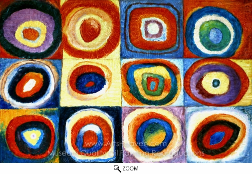 Wassily Kandinsky, Farbstudie Quadrate oil painting reproduction