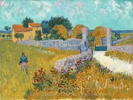 Farmhouse in Provence painting reproduction, Vincent Van Gogh