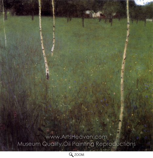 Gustav Klimt, Farmhouse with Birch Trees oil painting reproduction