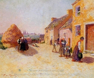 Farmyard painting reproduction, Ferdinand Du Puigaudeau