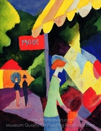 Fashion Window painting reproduction, August Macke