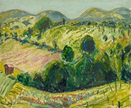 Fauve Landscape with Rolling Hills painting reproduction, Alfred Henry Maurer