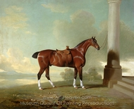 Favorite Chestnut Hunter of Lady Frances Stephens painting reproduction, Benjamin Marshall