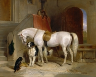 Favourites, the Property of H.R.H Prince George of Cambridge painting reproduction, Sir Edwin Landseer