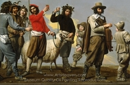 Feast of the Wine (The Procession of the Ram) painting reproduction, French Painter