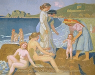 Female Bathers at Perros-Guirec painting reproduction, Maurice Denis