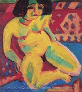 Female Nude (Dodo) painting reproduction, Ernst Ludwig Kirchner