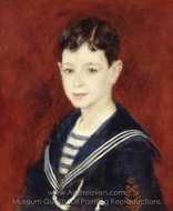 Fernand Halphen as a Boy painting reproduction, Pierre-Auguste Renoir