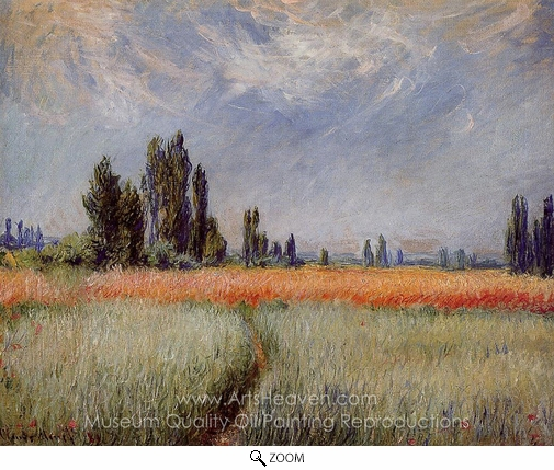 Claude Monet, Field of Corn oil painting reproduction