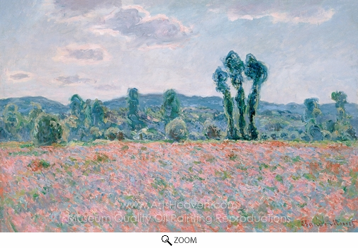 Claude Monet, Field of Poppies oil painting reproduction