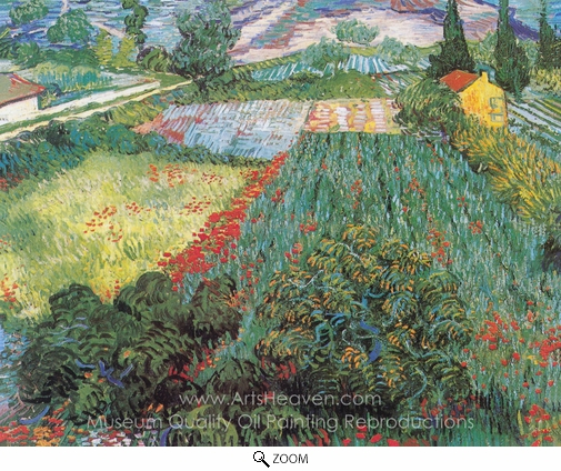Vincent Van Gogh, Field with Poppies oil painting reproduction