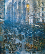 Fifth Avenue painting reproduction, Childe Hassam