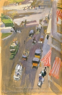 Fifth Avenue, New York painting reproduction, Joaquin Sorolla