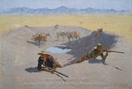Fight for the Waterhole painting reproduction, Frederic Remington