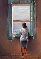 Figure at a Window painting reproduction, Salvador Dali (inspired by)