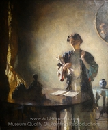 Figure in a Room painting reproduction, Frank Weston Benson