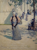Figures in Sunlight painting reproduction, Childe Hassam