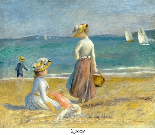Pierre-Auguste Renoir, Figures on the Beach oil painting reproduction
