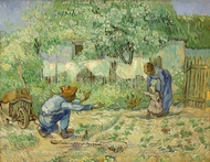 First Steps (after Millet) painting reproduction, Vincent Van Gogh