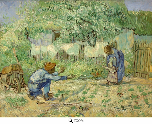 Vincent Van Gogh, First Steps (after Millet) oil painting reproduction