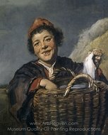 Fisher Boy painting reproduction, Frans Hals